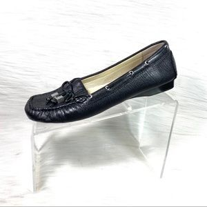 Michael Kors Loafers Black Leather Size 8.5 M